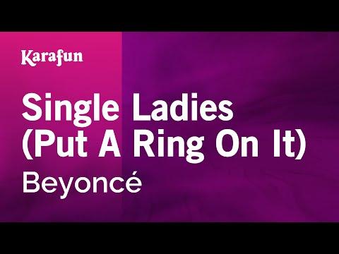 Karaoke Single Ladies (Put A Ring On It) - Beyoncé *