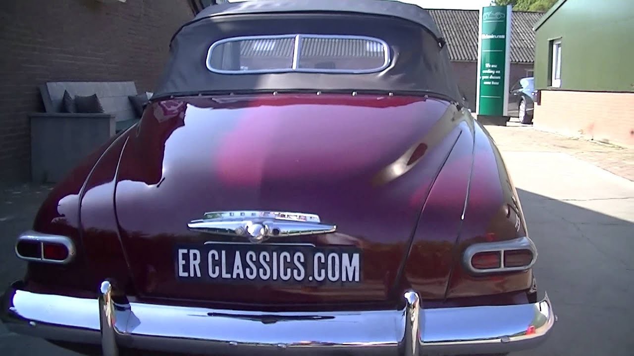 Studebaker Champion Convertible 1949 VIDEO wwwERclassicscom