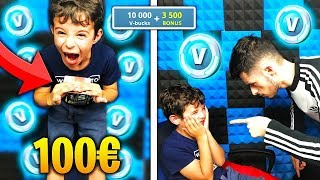 MY SMALL FREE 10,000 V-BUCKS WITH MY BANK CARTE on FORTNITE! I'm MARRE... 😪