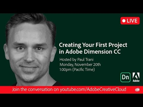Creating Your First Project in Adobe Dimension CC | Adobe Creative Cloud