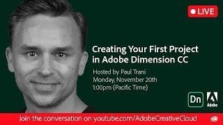 Creating Your First Project in Adobe Dimension CC | Adobe Creative Cloud thumbnail