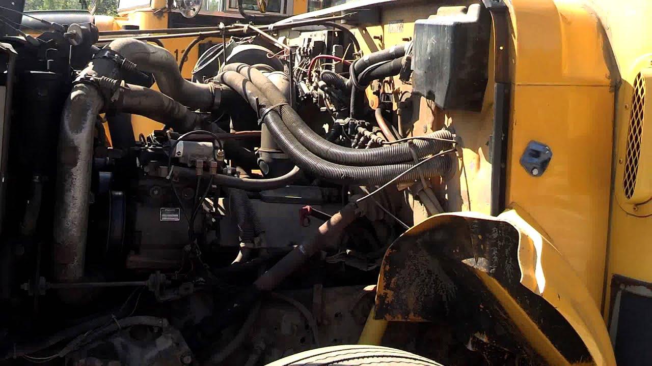 1996 T444e Diesel International Complete Engine 126,000 Miles  School Bus Fleet  YouTube