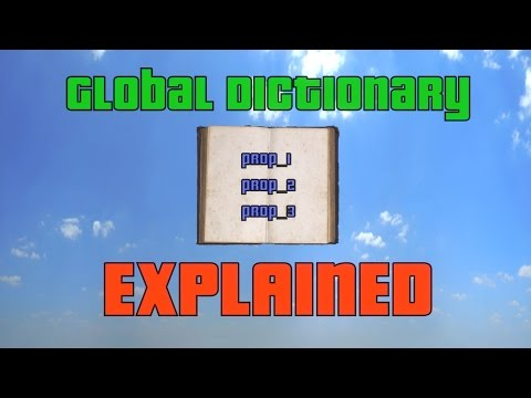 How to save with Global Dictionary - Explained