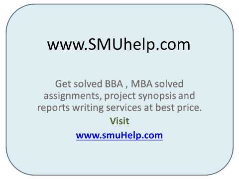 smu solved Smu bba all assignments solved monday, january 6, 2014 smu bba6 bb0028 entrepreneurship development assignment program bba semester 6 subject code & name.
