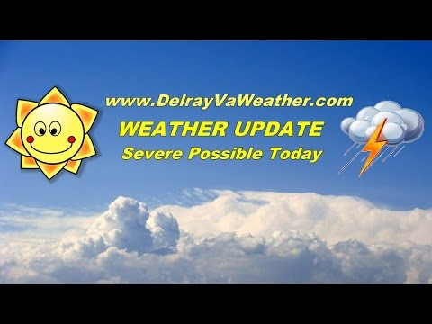Alexandria VA Severe weather threat 5-8pm today