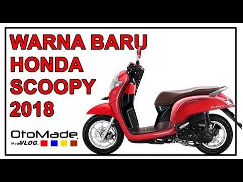 Warna Baru Honda Scoopy 2018 Youtube