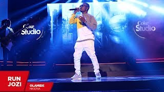 """Nigerian hip-hop royalty olamide takes up the challenge to cover aka's """"run jozi"""" in his unique style. where music meets #cokestudioafrica level with vusi..."""