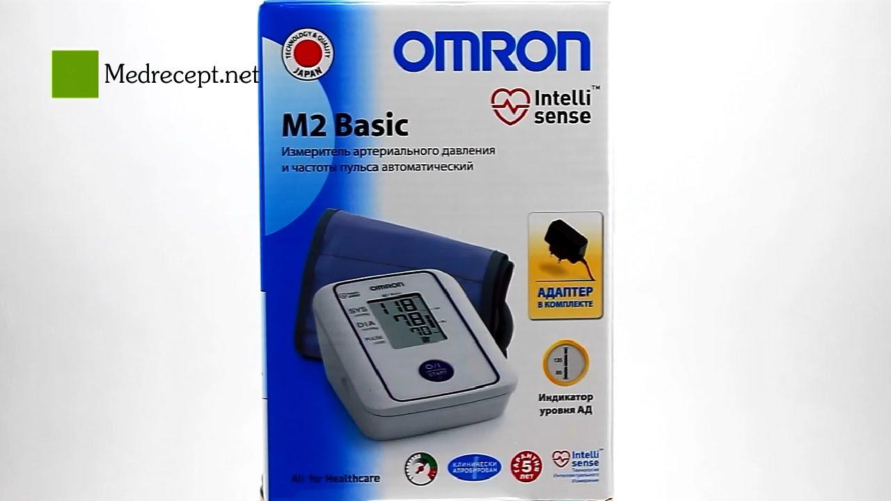 Тонометр Omron M2 Basic HEM-7121-ARU + адаптер питания