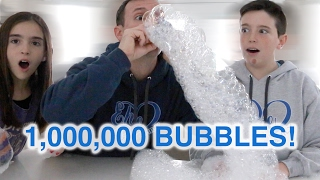DIY BUBBLE SNAKE! 1 MILLION BUBBLES!