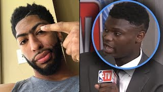 "Zion Williamson Tells Media ""TRADE ME TO THE KNICKS OR IM NOT PLAYING!"" & Anthony Davis SUPPORTS HIM"