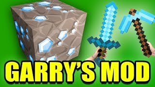 Repeat youtube video Gmod MINECRAFT Weapons Mod! (Garry's Mod)