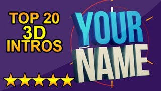 (BEST) Top 20 FREE 3D Intro Templates - SONY VEGAS, AFTER EFFECTS, CINEMA 4D