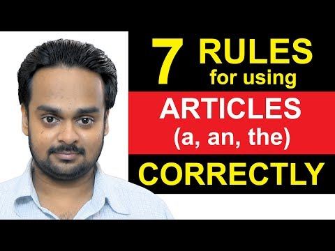 Articles (a, an, the) - Lesson 1 - 7 Rules For Using Article