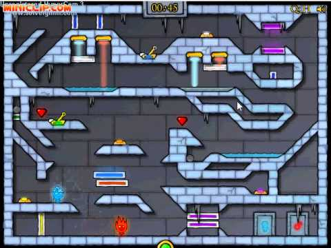 Miniclip Ice Temple [FireBoy & WaterGirl] Level 14 Guide