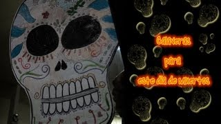 Calaveras para el dia de muertos (decoracion) / How to draw a skull for Day of the Dead