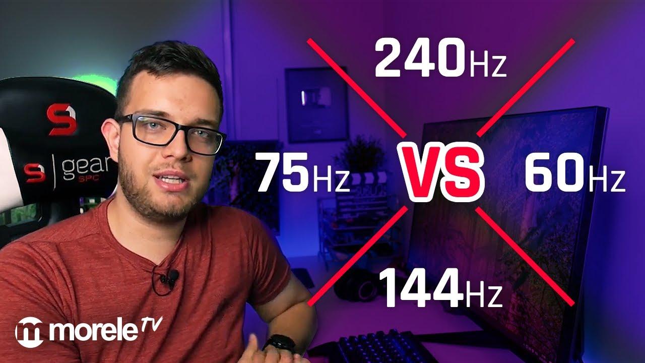"""240Hz vs 144Hz vs 75Hz vs 60Hz   Jak to wygląda """"w rzeczywistości""""?"""