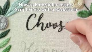 How to Create Letters in Embroidery by Hand Tutorials
