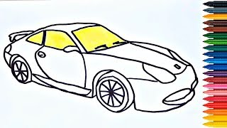 How to Draw Car - Video for Kids