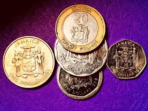 Jamaica Coin Collection 1991-2008 $1, $5,  $10, $20
