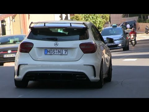 Mercedes A45 AMG Edition 1 w/ CUSTOM Exhaust in Monaco | LOUD FART SOUNDS!