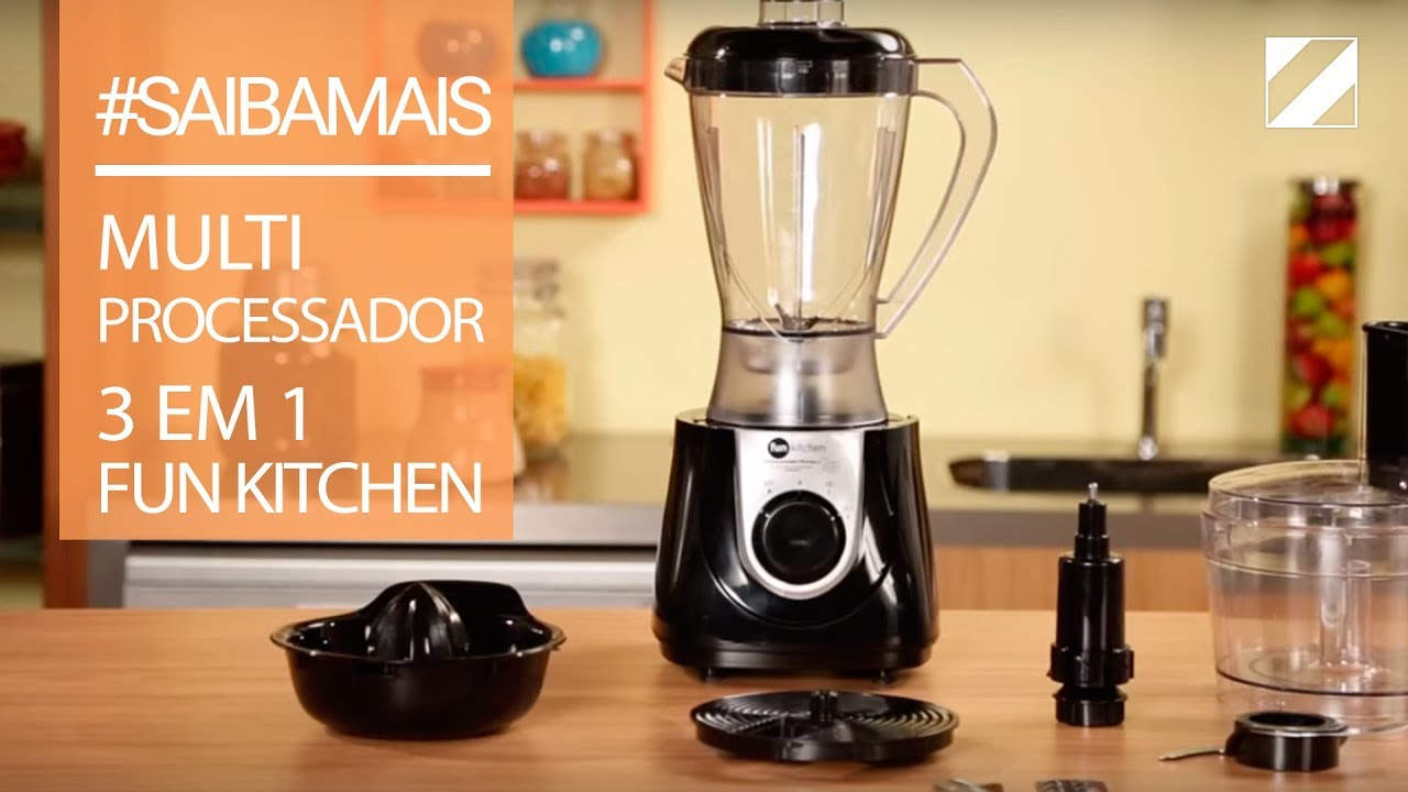 Fun Kitchen Multiprocessador 3 Em 1 Fun Kitchen Youtube
