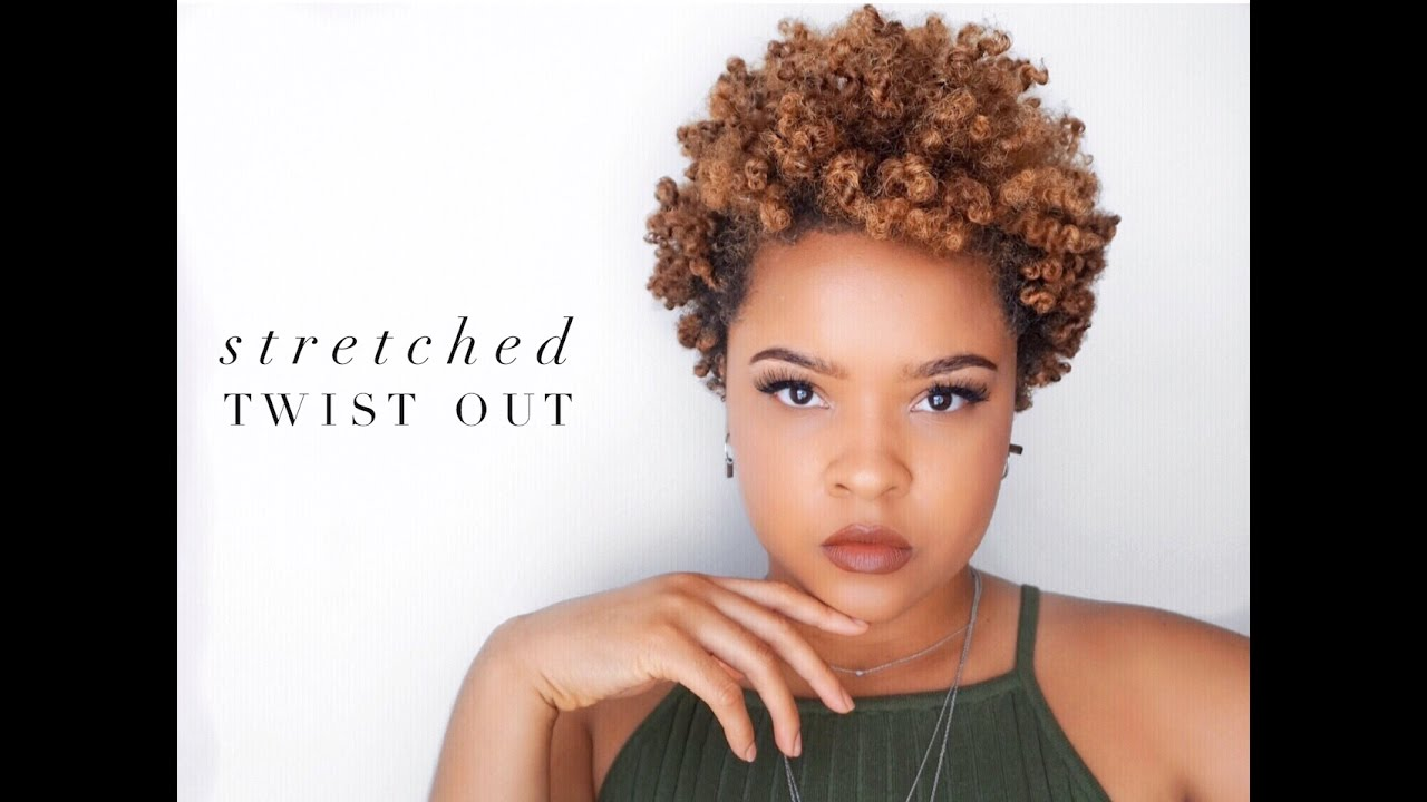 Stretched Out & Defined Twist Out   4A Natural Hair - YouTube