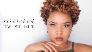 super stretched out defined twist out   4a natural hair