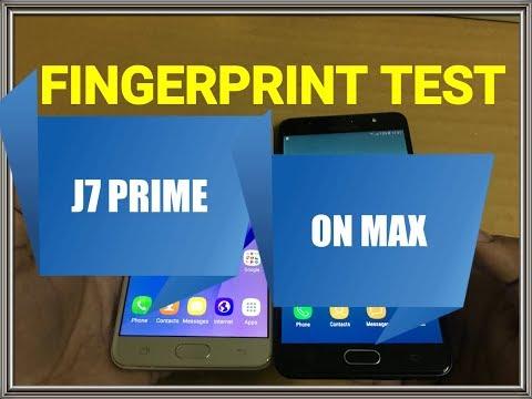 Galaxy On Max vs Galaxy J7 Prime - Fingerprint Speed Test