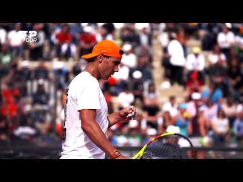 Nadal Trains At Foro Italico In Rome