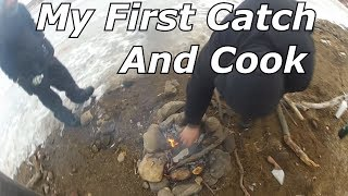 Catch and Cook CRAPPIE on ice! MY First taste of crappie!