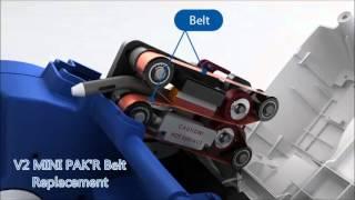 2 Belts Included MINI PAKR Replacement Belt Kit Basic mini PAK/'R