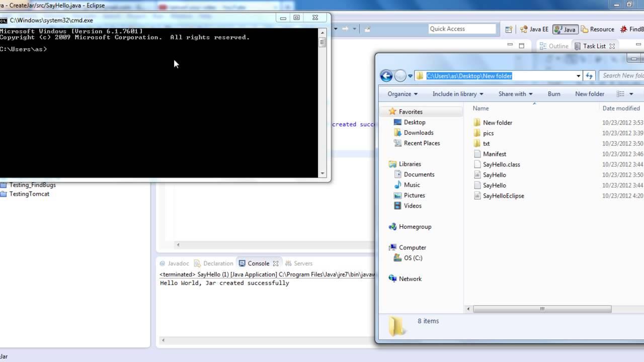 Create Jar ( Java Archive) in Eclipse - YouTube