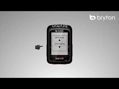 Bryton Rider 410│How To Change GPS System