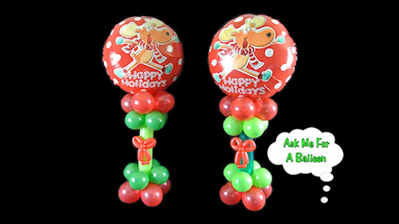 christmas balloon centerpiece decoration how to video tutorial youtube