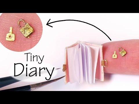 """Doll / Miniature Diary Tutorial (W/ """"Working"""" Lock & Key)"""