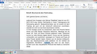 Ein Brief Schreiben B2