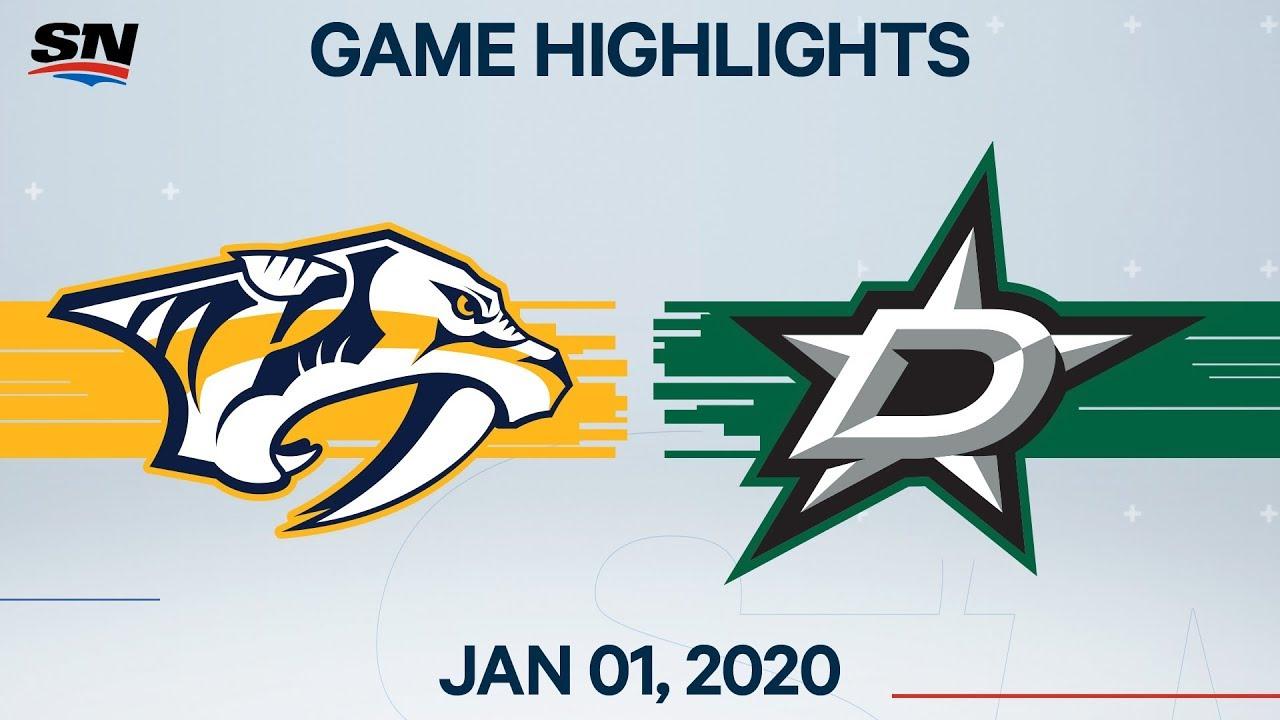 NHL Highlights | Predators vs. Stars - Jan. 1, 2020