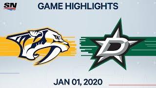 NHL Highlights   Predators vs. Stars - Jan. 1, 2020