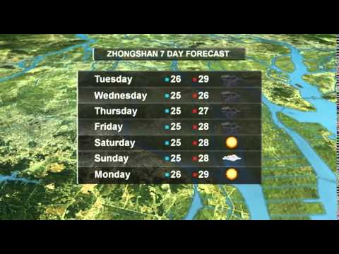 7 Day Forecast Pearl River Delta