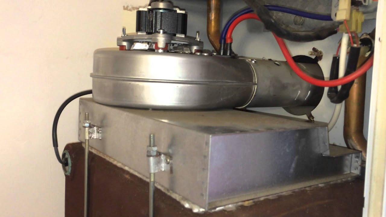 replace  fan   boiler easy youtube