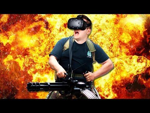 Biggest Gun Ever! - Hot Dogs Horseshoes & Hand Grenades - Virtual Reality Gun Sandbox HTC Vive