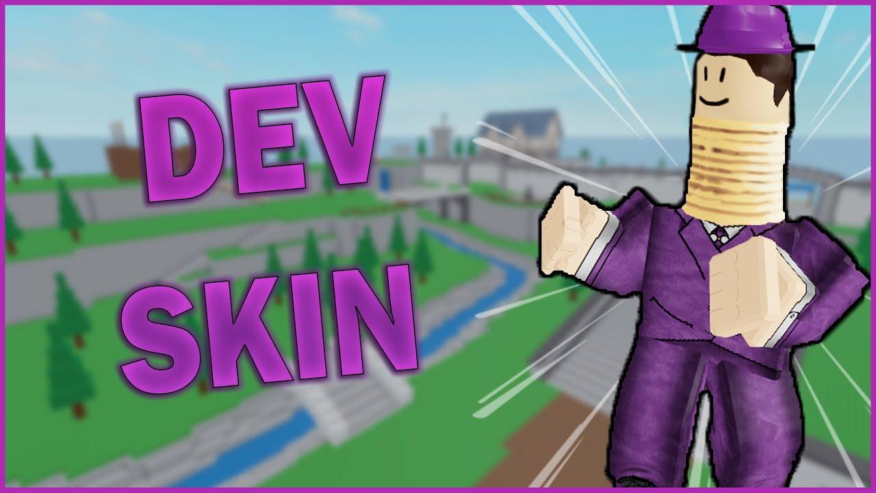Using A DEV SKIN (Roblox Arsenal) YouTube