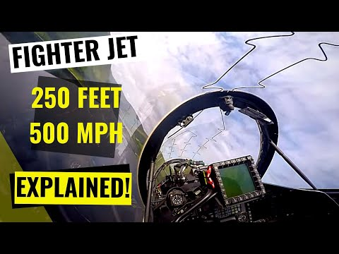 Low Level Fast Jet Navigation (Narrated) - Hawk T2, Royal Air Force