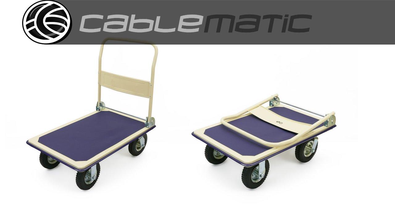 Carro de acero con ruedas neum ticas de 91x62cm y carga for Carritos con ruedas para cocina