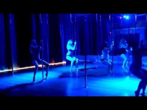 Chandelier - Sia Beginner Pole Dance Routine 6-2-14