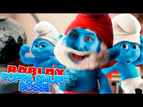 Roblox Adventure - ROPO PAPA SMURF IS THE BOSS!!!!