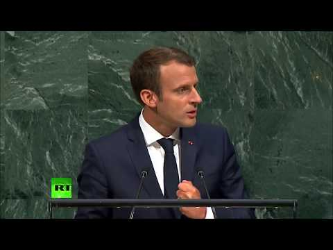French President Emmanuel Macron addresses UNGA (FULL SPEECH)