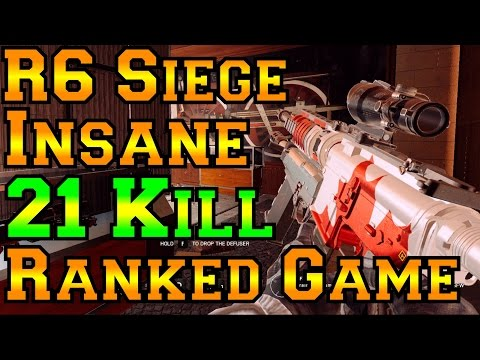 Insane 21 Kill | Double Ace | Ranked Game - Rainbow Six Siege