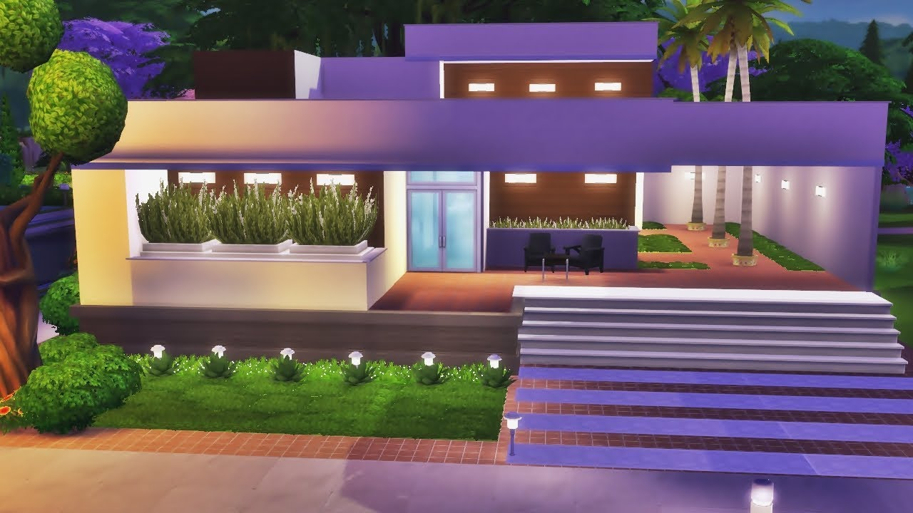 Jogo base casa moderna t rrea the sims 4 speed build Casas modernas sims 4 paso a paso
