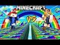 SZALONY WYŚCIG TĘCZOWE LUCKY BLOCKI MINECRAFT Rainbow Lucky Block Race Vito vs Bella